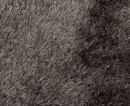 Metallic Shag 120cm Super Soft Rug - Ash 3