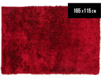 Super Soft Metallic 165x115cm Shag Rug - Red 1