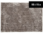 Super Soft Metallic 165x115cm Shag Rug - Stone 1