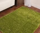 Chicago Shag 150x80cm Plain Rug - Green 2