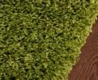 Chicago Shag 150x80cm Plain Rug - Green 3