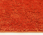 Monroe Shag 220x150cm Super Soft Microfibre Rug - Rust 4