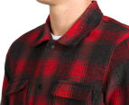 Element Men's Osbourne Long Sleeve Shirt - Fire Red 6