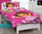 Dora The Explorer Single Bed Quilt Cover Set - Multi 1