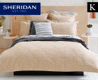 Sheridan Hamersely King Bed Tailored Quilt Cover - Wheat 1