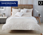 Sheridan Coralreef Queen Quilt Cover Set - Flax 1