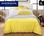 Sheridan Peake King Bed Quilt Cover Set - Wattle 1