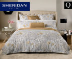 Sheridan Flourish Queen Bed Standard Quilt Cover Set & Fitted Sheet - Sand 1