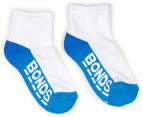 Bonds Kids' Logo Quarter Crew Socks 3-Pack - Blue/Grey/Orange 2