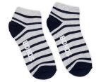 Bonds Kids' Fashion Trainer Socks 4-Pack - White/Black/Blue/Grey 4