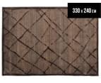 Bedouin Tribal Grid 330x240cm X Large Plush Rug - Brown 1
