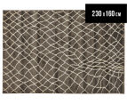 Bedouin Tribal Reflections 230x160cm Medium Plush Rug - Grey 1