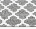 Amalia Scandinavian 225x155cm Flatweave Scandi Lattice Rug - Grey 3