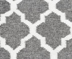 Amalia Scandinavian 225x155cm Flatweave Scandi Lattice Rug - Grey 4
