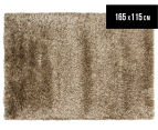 Hand Knotted New Zealand Wool 165x115cm Shag Rug - Latte 1