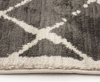 Bedouin Tribal Grid 230x160cm Medium Plush Rug - Grey 4