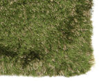 Hand Knotted New Zealand Wool 165x115cm Shag Rug - Green 2