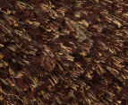 Hand Knotted New Zealand Wool 165x115cm Shag Rug - Brown 3