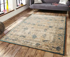 Antique Look Art Silk 230x160cm Medium Rug - Blue 2