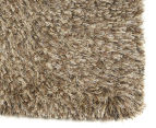 Hand Knotted New Zealand Wool 165x115cm Shag Rug - Latte 2