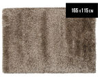 Hand Knotted New Zealand Wool 165x115cm Shag Rug - Straw 1