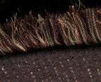 Hand Knotted New Zealand Wool 165x115cm Shag Rug - Brown 4