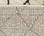 Bedouin Tribal Reflections 230x160cm Medium Plush Rug - Cream 6