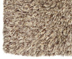 Hand Knotted New Zealand Wool 165x115cm Shag Rug - Straw 2
