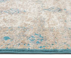 Antique Look Art Silk 230x160cm Medium Rug - Blue 4