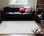 Super Soft Metallic 225x155cm Shag Rug - White 2