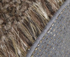 Hand Knotted New Zealand Wool 165x115cm Shag Rug - Straw 3