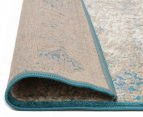 Antique Look Art Silk 230x160cm Medium Rug - Blue 5