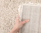 Oxford Matte 170x120cm Small Shag Rug - Cream 4