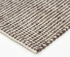 Amalia Scandinavian 320x230cm Handwoven Clouds Rug - Brown 2