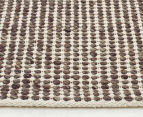 Amalia Scandinavian 320x230cm Handwoven Clouds Rug - Brown 3
