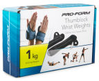 Pro-Form 1kg Thumblock Wrist Weights 2