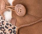 OZWEAR Connection Ugg Mini Button Leopard Boot - Chestnut 4