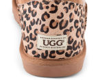 OZWEAR Connection Ugg Mini Button Leopard Boot - Chestnut 5