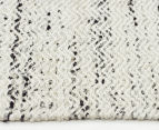 Amalia Scandinavian 320x230cm Flatweave Static Chevron Rug - White 3