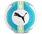 Puma Size 5 EvoPower 6.3 Trainer MS Football - White/Atomic Blue/Safety Yellow 2