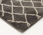 Bedouin Tribal Reflections 290x200cm Large Plush Rug - Grey 3