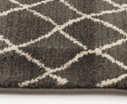 Bedouin Tribal Reflections 290x200cm Large Plush Rug - Grey 4