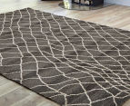 Bedouin Tribal Reflections 330x240cm X Large Plush Rug - Grey 2