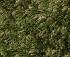 Hand Knotted New Zealand Wool 280x190cm Shag Rug - Green 3