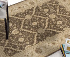 Arya Beauty Classic Collection Estelle 330x240cm X Large Rug - Brown 2