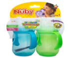 Nuby No-Spill 2-Pack Trainer Cup - Green/Blue 6