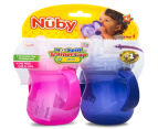 Nuby No-Spill 2-Pack Trainer Cup - Pink/Purple 6