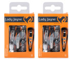 2 x Lady Jayne Sport Style One Touch Hair Clips Shell 8pk 1