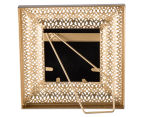 Antique Punched Metal 19x19cm Photo Frame - Brown 3
