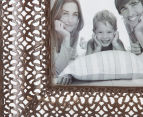 Antique Punched Metal 19x19cm Photo Frame - Brown 5